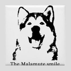 The Malamute Smile Tile Coaster