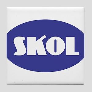 SKOL - Purple Tile Coaster