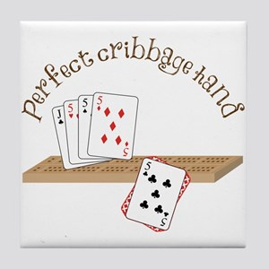 Perfect Cribbage Hand Tile Coaster