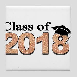 Class of 2018 Glitter Tile Coaster