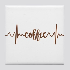 COFFEE HEARTBEAT Tile Coaster
