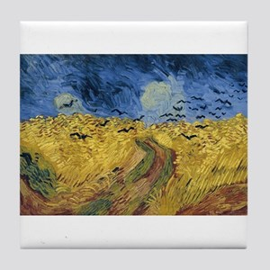 Vincent van Gogh - Wheatfield with Cr Tile Coaster