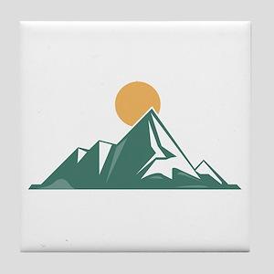Sunrise Mountain Tile Coaster