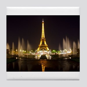 A Night In Paris Tile Coaster