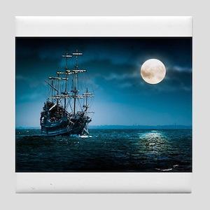 Moonlight Pirates Tile Coaster