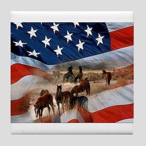 American Wild Tile Coaster