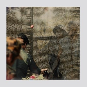 Vietnam Veterans Memorial Tile Coaster