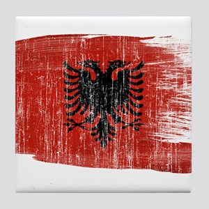 Albania Flag Tile Coaster