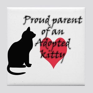 Adopted Kitty Tile Coaster