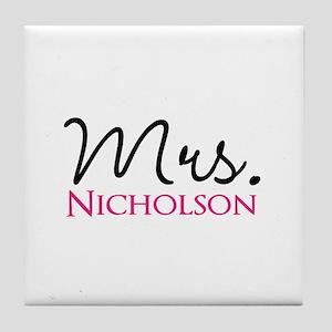 Customizable Name Mrs Tile Coaster