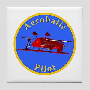 Aerobatic Pilot - Eagle Tile Coaster