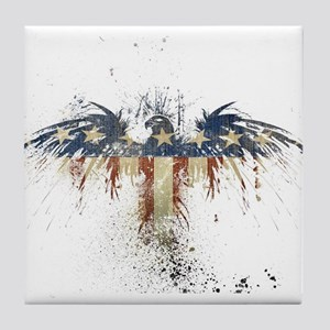 The Freedom Eagle, Full Color Tile Coaster