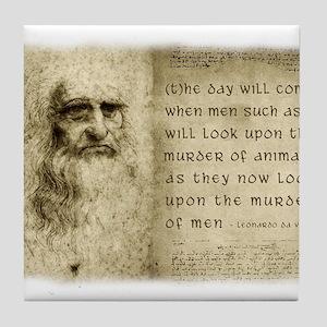 Da Vinci Animal Quote Tile Coaster