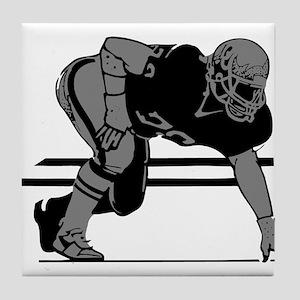 FOOTBALL *6* {gray} Tile Coaster