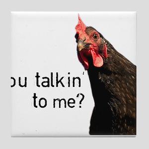 Funny Attitude Chicken Tile Coaster