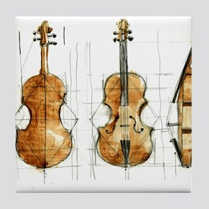 The Violin Tile Coaster