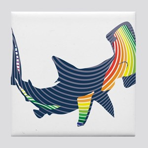 hammerhead color swoosh Tile Coaster