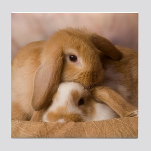 Cuddle Bunnies Tile Coaster