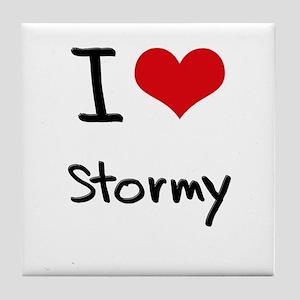 I love Stormy Tile Coaster