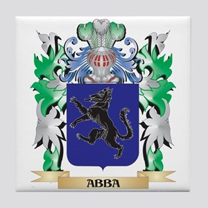 Abba Coat of Arms - Family Crest Tile Coaster