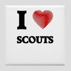 I love Scouts Tile Coaster