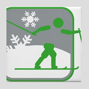 skilanglauf symbol Tile Coaster