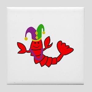 MARDI GRAS CRAWFISH Tile Coaster