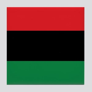 The Red, Black and Green Flag Tile Coaster