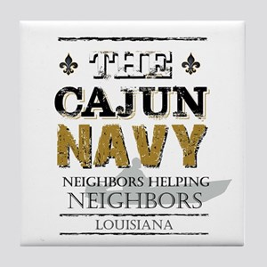 The Cajun Navy Neighbors Helping Neig Tile Coaster