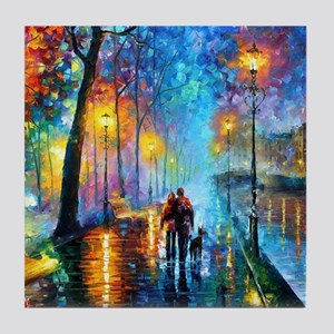 Evening Walk Tile Coaster