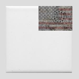 3 percenter flag Tile Coaster
