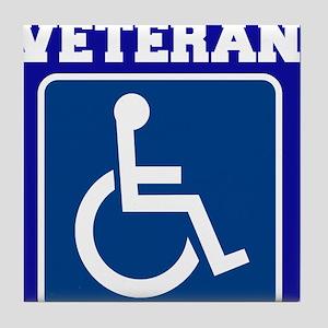 Disabled Handicapped Veteran Tile Coaster