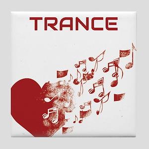 I am Trance Heart Tile Coaster