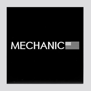 Mechanic: American Flag (White) Tile Coaster