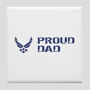 USAF: Proud Dad Tile Coaster