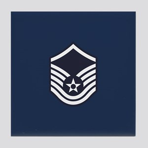USAF: MSgt E-7 (Blue) Tile Coaster