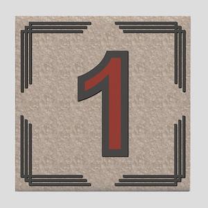 Santa Fe Inspired Number 1 Decorative Art Tile