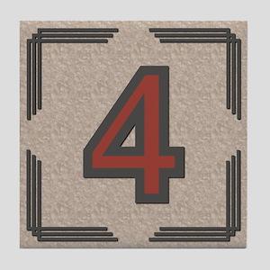 Santa Fe Inspired Number 4 Decorative Art Tile