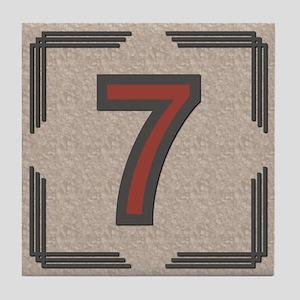 Santa Fe Inspired Number 7 Decorative Art Tile