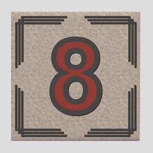 Santa Fe Inspired Number 8 Decorative Art Tile
