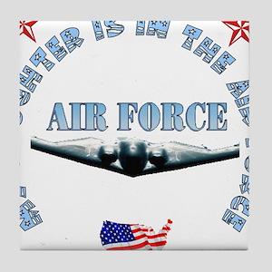 Air Force Daughter Tile Coaster