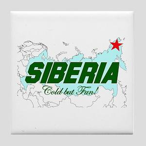 Siberia: Cold But Fun! Tile Coaster