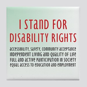 Disability Rights Tile Coaster