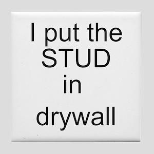 Stud in drywall Tile Coaster