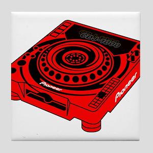 CDJ-1000 Swirl Tile Coaster