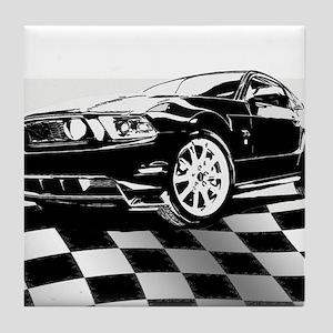 2011 Mustang Flag Tile Coaster