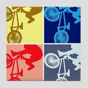 BMX Bike Rider/Pop Art Tile Coaster