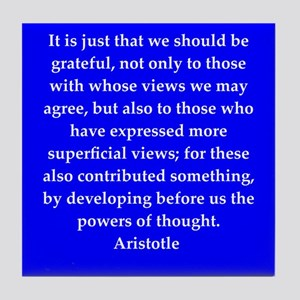Wisdom of Aristotle Tile Coaster
