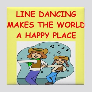 line dancing Tile Coaster