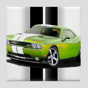 New Challenger Green Tile Coaster